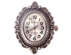 14059-AS Reloj metalico con filigrana plateado envejecido Innspiro