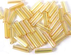 Z14061 B14061 14061 Rocalla de vidrio cilindro aurora boreale amarillo Innspiro