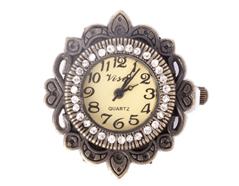 14062-AG Reloj metalico con cuentas y filigrana dorado envejecido Innspiro
