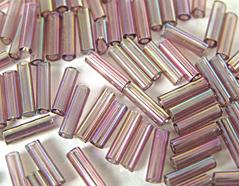Z14065 B14065 14065 Rocalla de vidrio cilindro aurora boreale lila Innspiro