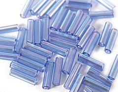 Z14067 B14067 14067 Rocalla de vidrio cilindro aurora boreale verde Innspiro