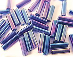 Z14068 B14068 14068 Rocalla de vidrio cilindro aurora boreale azul marino Innspiro