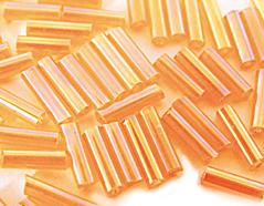 Z14069 B14069 14069 Rocalla de vidrio cilindro aurora boreale naranja Innspiro