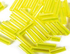 Z14070 B14070 14070 Rocalla de vidrio cilindro aurora boreale amarillo fuerte Innspiro