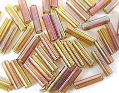 Z14071 B14071 14071 Rocalla de vidrio cilindro aurora boreale metalico Innspiro