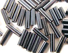 Z14072 B14072 14072 Rocalla de vidrio cilindro aurora boreale negro Innspiro