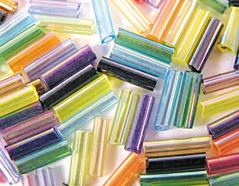 Z14073 B14073 14073 Rocalla de vidrio cilindro aurora boreale mezcla Innspiro