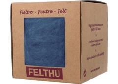 1407 Fieltro de lana azul grisaceo Felthu
