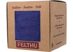 1409 Fieltro de lana azul militar Felthu