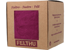 1414 Fieltro de lana burdeos Felthu