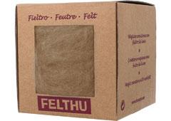 1436 Fieltro de lana beige Felthu