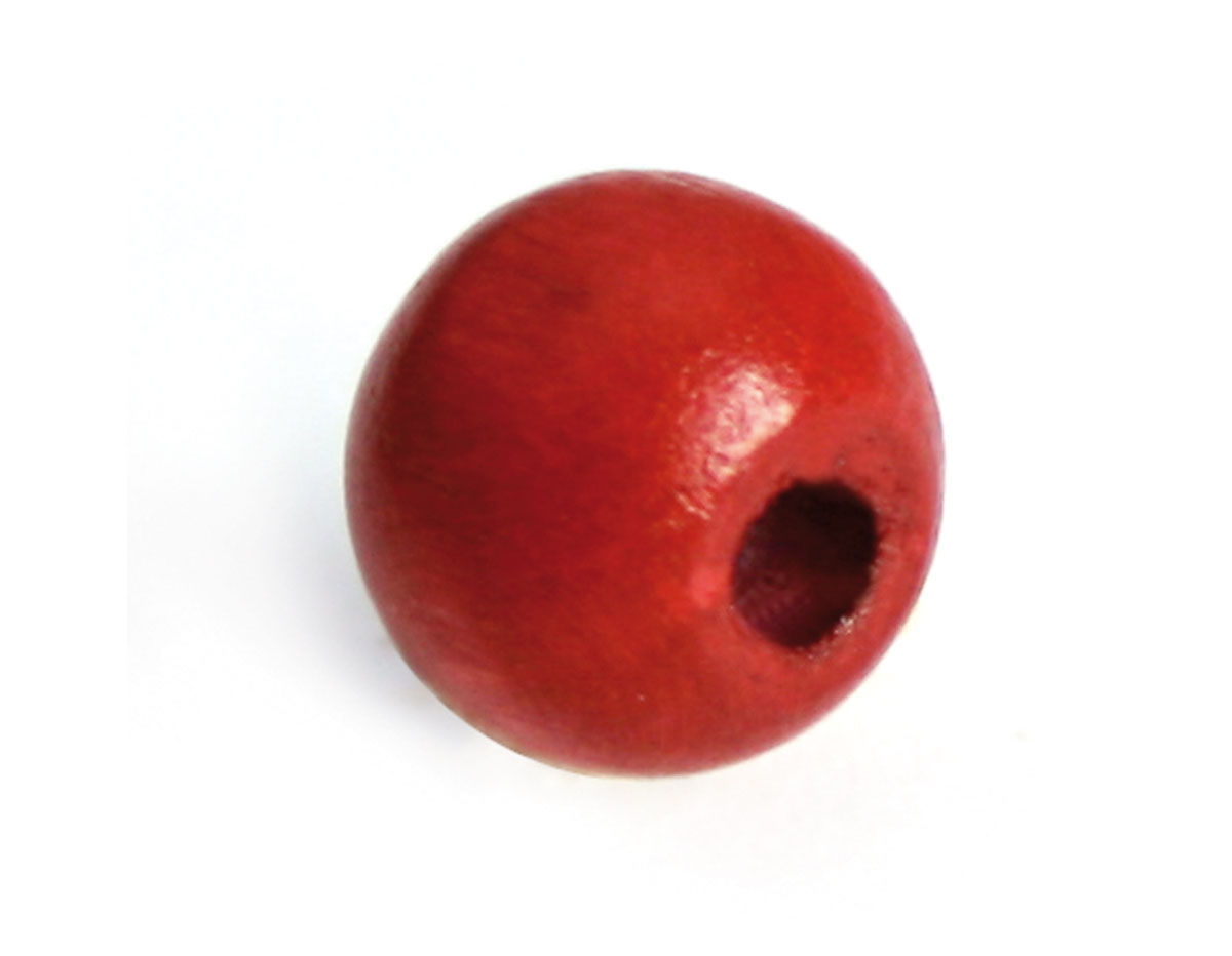 14586 Cuenta madera bola eco roja Innspiro