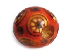 Z14597 14597 Cuenta madera bola decorada roja Innspiro