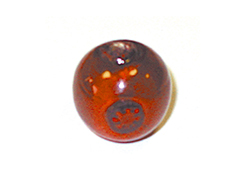 15208 Z15208 Cuenta de vidrio bola con dibujo transparente rojo Innspiro