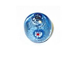 15209 Z15209 Cuenta de vidrio bola con dibujo transparente azul cielo Innspiro