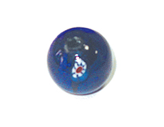 15210 Z15210 Cuenta de vidrio bola con dibujo transparente azul marino Innspiro