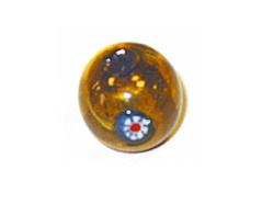 15212 Z15212 Cuenta de vidrio bola con dibujo transparente oro Innspiro