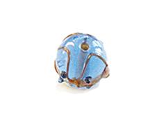 Z15229 15229 Cuenta de vidrio bola con relieve transparente azul cielo Innspiro