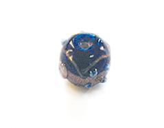 15230 Z15230 Cuenta de vidrio bola con relieve transparente azul marino Innspiro