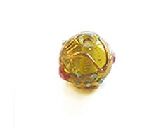 Z15232 15232 Cuenta de vidrio bola con relieve transparente oro Innspiro