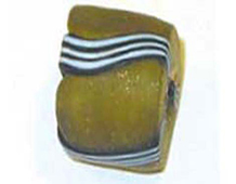 15304 Z15304 15304- CUENTAS CRISTAL Glaseadas -Cubico con rayas- Innspiro