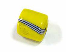 15314 AB C AMARILLO BR cubico c-rayas 1 5x1 5cm 6 u Innspiro