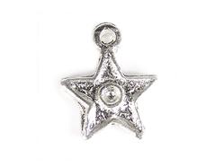 15455 Z15455 Colgante metalico Zamak estrella plateado envejecido Innspiro