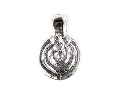 Z15456 15456 Colgante metalico Zamak espiral plateado envejecido Innspiro