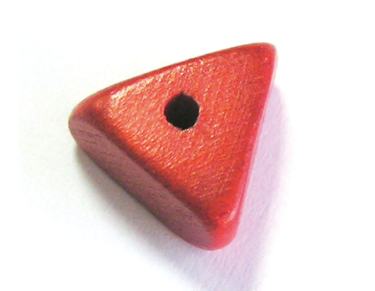 16001 Cuenta madera triangulo rojo Innspiro