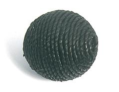 Z16501 16501 Cuenta madera bola forrada con cordon negro Innspiro