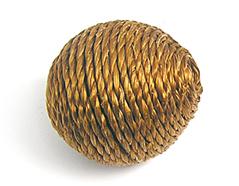 Z16503 16503 Cuenta madera bola forrada con cordon marron Innspiro