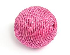 Z16505 16505 Cuenta madera bola forrada con cordon rosado Innspiro