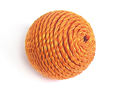 Z16509 16509 Cuenta madera bola forrada con cordon naranja Innspiro