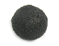 Z16511 16511 Cuenta madera bola forrada con tela negra Innspiro