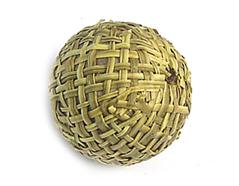 Z16512 16512 Cuenta madera bola forrada con tela ocre Innspiro