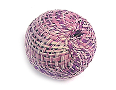 Z16516 16516 Cuenta madera bola forrada con tela morada Innspiro