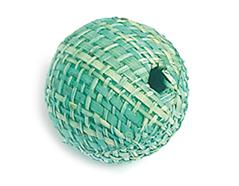 Z16517 16517 Cuenta madera bola forrada con tela turquesa Innspiro