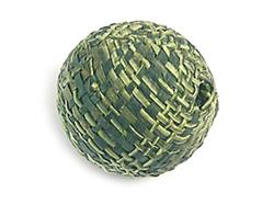 Z16518 16518 Cuenta madera bola forrada con tela verde Innspiro
