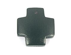 Z16621 16621 Colgante madera cruz encerada negra Innspiro