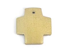16622 Z16622 Colgante madera cruz encerada ocre Innspiro