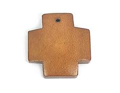 Z16623 16623 Colgante madera cruz encerada marron Innspiro