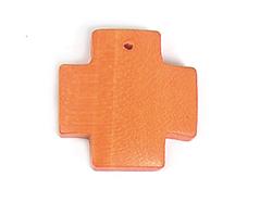 16629 Z16629 Colgante madera cruz encerada naranja Innspiro