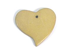 Z16702 16702 Colgante madera corazon encerada ocre Innspiro