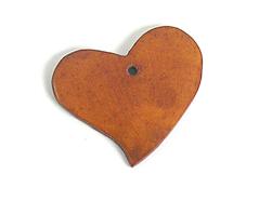 Z16703 16703 Colgante madera corazon encerada marron Innspiro