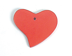 Z16704 16704 Colgante madera corazon encerada roja Innspiro