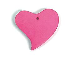 16705 Z16705 Colgante madera corazon encerada rosada Innspiro