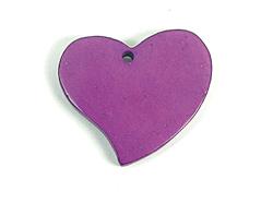 Z16706 16706 Colgante madera corazon encerada morado Innspiro
