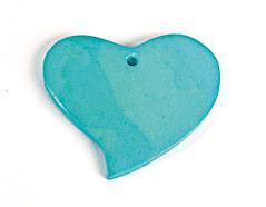 Z16707 16707 Colgante madera corazon encerada turquesa Innspiro