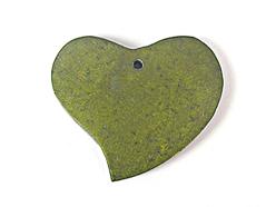 Z16708 16708 Colgante madera corazon encerada verde Innspiro