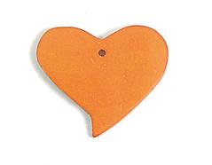 Z16709 16709 Colgante madera corazon encerada naranja Innspiro